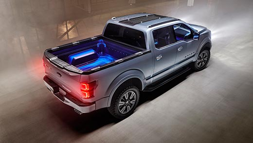 The 2015 Ford F150 Atlas concept vehicle.  (Photo Credit: Ford)